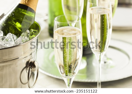 Alcoholic Champagne for New Years Eve Celebration - stock photo