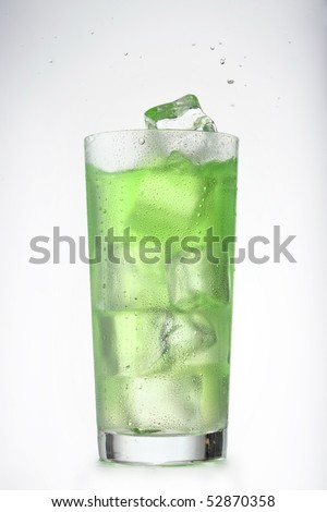 Alcoholic cocktail Splash isolated. More beverages available. - stock photo