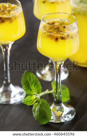Cold Peppermint Tea Lime Glass Dark Stock Photo 478721128 ...