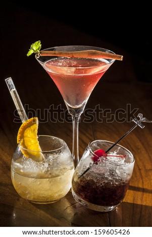 Alcoholic Drinks - stock photo