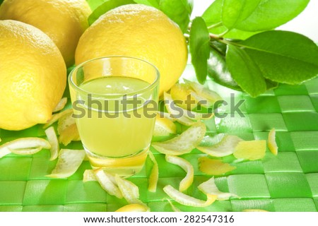 alcoholic product made from lemon peel