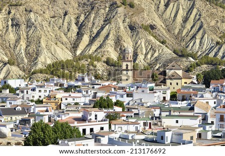Alcolea, Small village in the Alpujarra, Almeria - stock photo