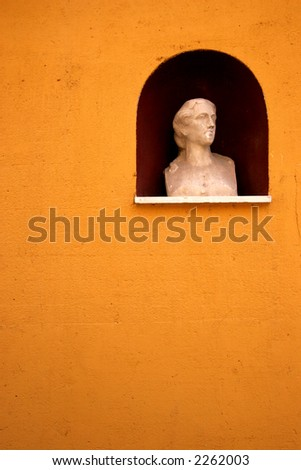 Alcove with a Statue - stock photo