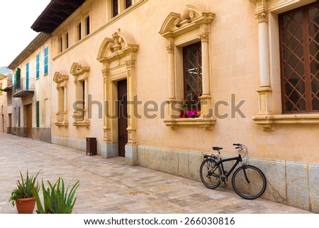 Alcudia Old Town city town hall in Majorca Mallorca Balearic island of Spain Ayuntamiento - stock photo