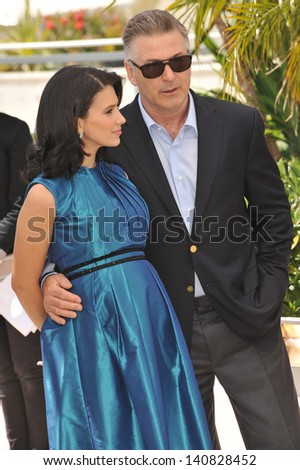 "Alec Baldwin & Hilaria Thomas at photocall for his movie ""Seduced and Abandoned"" at the 66th Festival de Cannes. May 21, 2013  Cannes, France"