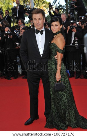 "Alec Baldwin & Hilaria Thomas at the gala screening of ""Killing Them Softly"" in competition at the 65th Festival de Cannes. May 22, 2012  Cannes, France Picture: Paul Smith / Featureflash"