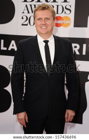 Aled Jones arrives for the Classic Brit Awards 2013 at the Royal Albert Hall, London. 02/10/2013 - stock photo
