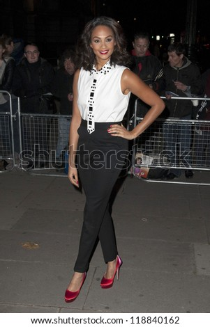 Alesha Dixon arriving for the Cosmopolitan Ultimate Women of the Year Awards , Victoria & Albert Museum, London. 30/10/2012 Picture by: Simon Burchell