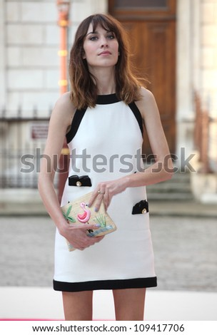 Alexa Chung arriving for the Royal Academy of Arts Summer Exhibition Party, at the Royal Academy of Arts, London. 30/05/2012 Picture by: Alexandra Glen / Featureflash - stock photo
