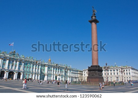 Alexander Column in the Palace Square, Saint Petersburg