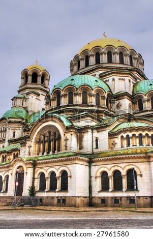 Alexander Nevski - The cathedral in Sofia - stock photo