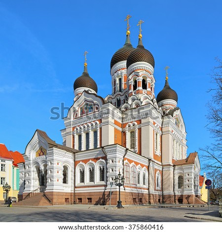Alexander Nevsky Cathedral in the Tallinn Old Town, Estonia - stock photo