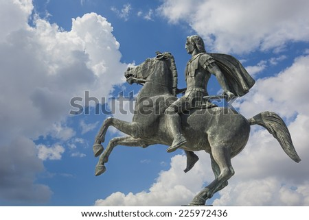 Alexander the Great ,Thessaloniki city,Greece  - stock photo