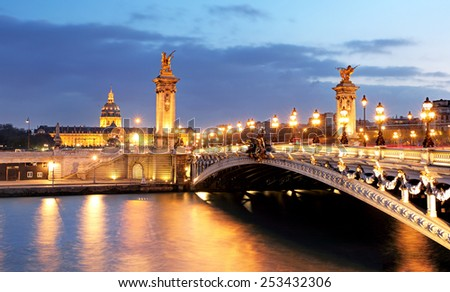 Alexandre 3 Bridge, Paris, France - stock photo