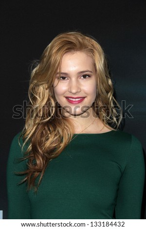 """Alexia Fast at """"The Host"""" World Premiere, Arclight, Hollywood, CA 03-19-13 - stock photo"""