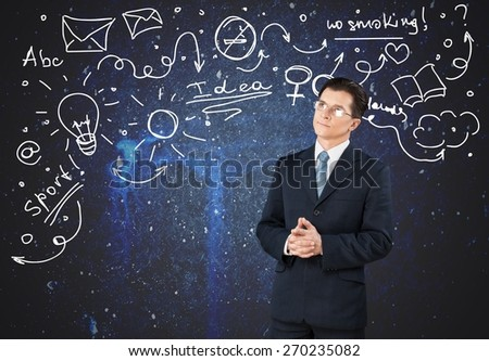 Algebra, attractive, black. - stock photo