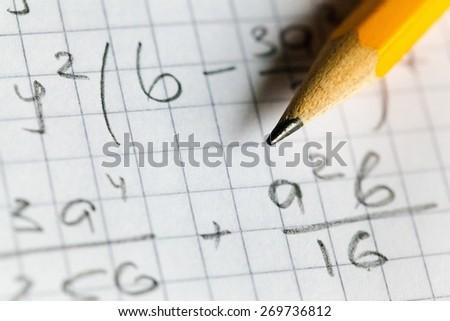 Algebra, calculate, class. - stock photo