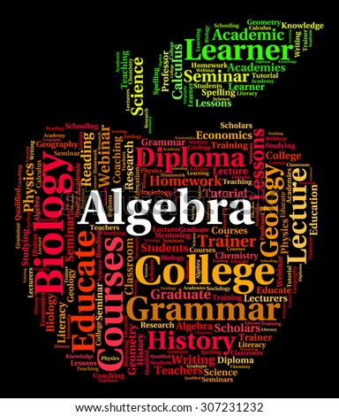 Algebra Word Meaning Multiplication Words And Calculus - stock photo