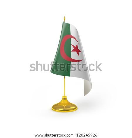 Algeria Flag Detail Render - stock photo