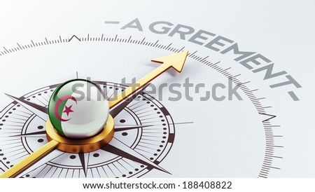 Algeria High Resolution Agreement Concept - stock photo