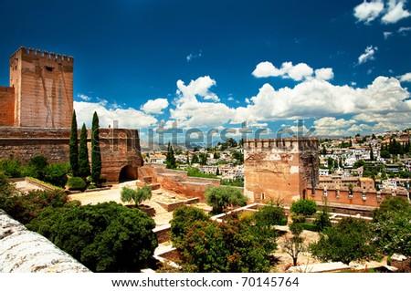 Alhambra in Granada, Spain. - stock photo