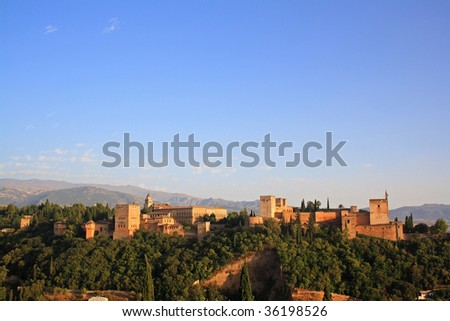 Alhambra of Granada - stock photo