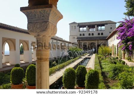 Alhambra palace in Granada, Spain - stock photo