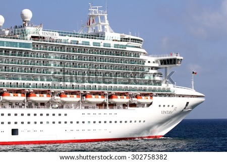 Bow Luxury Cruise Ship Port Stock Photo Shutterstock - Port or starboard side of cruise ship