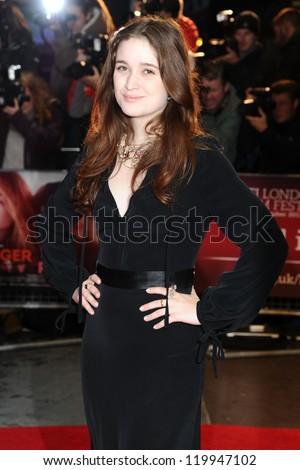 "Alice Englert at the premiere for ""Ginger and Rosa"" being shown as part of the London Film Festival 2012, Odeon West End London. 13/10/2012 Picture by: Steve Vas - stock photo"