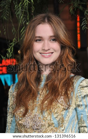 "Alice Englert at the world premiere of her movie ""Beautiful Creatures"" at the Chinese Theatre, Hollywood. February 6, 2013  Los Angeles, CA Picture: Paul Smith - stock photo"