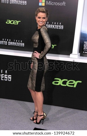 "Alice Eve at the ""Star Trek Into Darkness"" Los Angeles Premiere, Dolby Theater, Hollywood, CA 05-14-13 - stock photo"