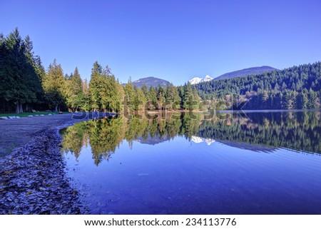 Alice lake, British Columbia, Canada - stock photo