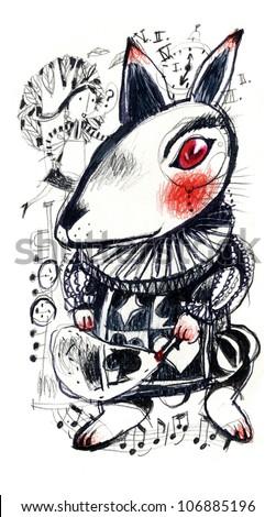 Alice's Adventures in Wonderland - stock photo