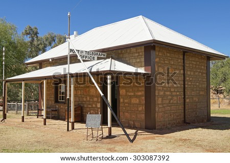 ALICE SPRINGS, AUSTRALIA - MAY 3, 2015: Old Telegraph Station Museum on May 3, 2015 in Alice Springs, Australia - stock photo