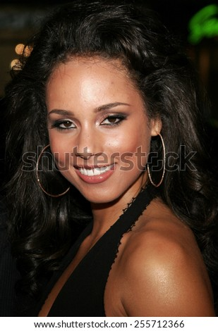 "Alicia Keys attends the World Premiere of ""Smokin' Aces"" held at the Grauman's Chinese Theater in Hollywood, California on January 18, 2007.  - stock photo"