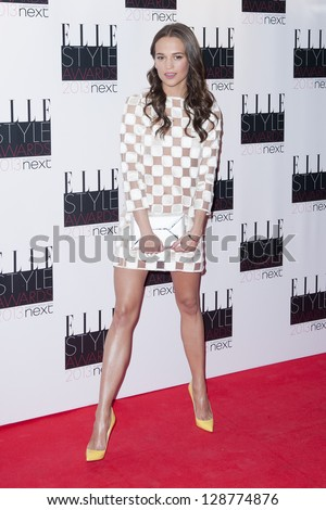 Alicia Vikander arriving for the 2013 Elle Style Awards, at The Savoy Hotel, London. 11/02/2013 Picture by: Simon Burchell - stock photo
