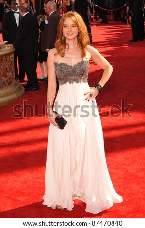 Alicia Witt at the 61st Primetime Emmy Awards at the Nokia Theatre L.A. Live. September 20, 2009  Los Angeles, CA Picture: Paul Smith / Featureflash