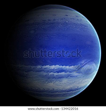 Alien Blue Gas Exo Planet - stock photo