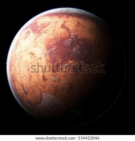 Alien Desert Exo Planet - stock photo