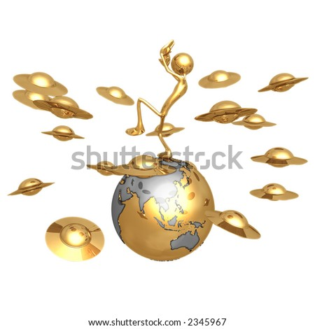 Alien Invasion - stock photo