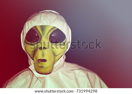 alien mask scary halloween costume & Alien Mask Scary Halloween Costume Stock Photo (100% Legal ...