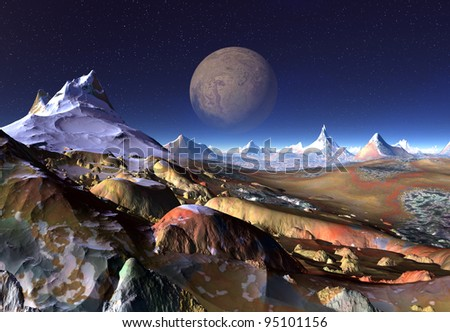 "diversepixel's ""Alien Planets"" set on Shutterstock"
