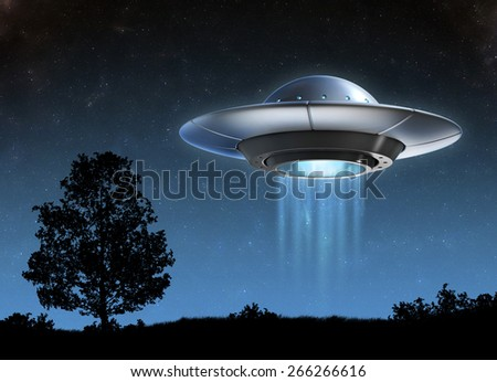 Alien spaceship - ufo - stock photo