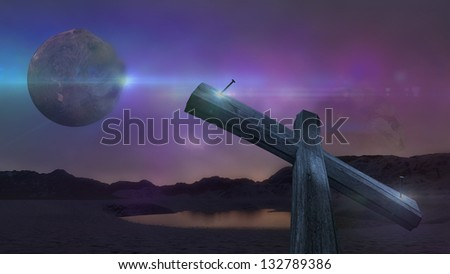 Alien world - stock photo