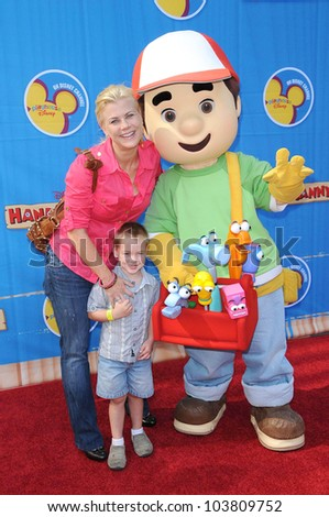 Alison Sweeney and family  at the Los Angeles Premiere of 'Handy Manny Motorcycle Adventure'. Arclight Hollywood, Hollywood, CA. 09-26-09 - stock photo