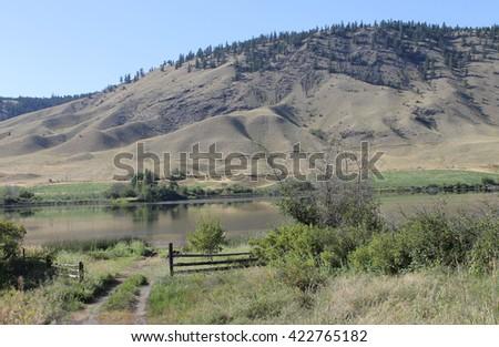 Alkali Lake scenic  - stock photo