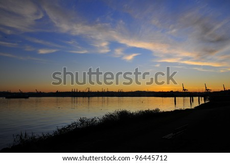 Alki Sunrise - stock photo