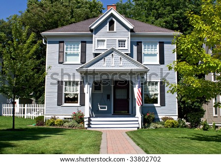 All American Home - stock photo