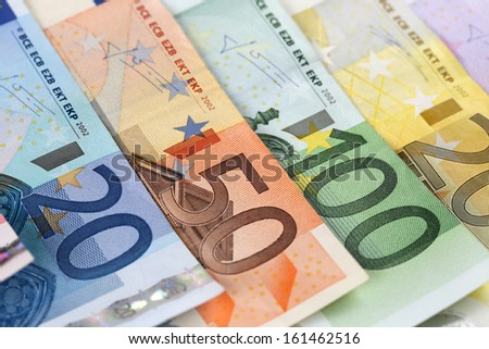 All Euro notes of the European Union Currency