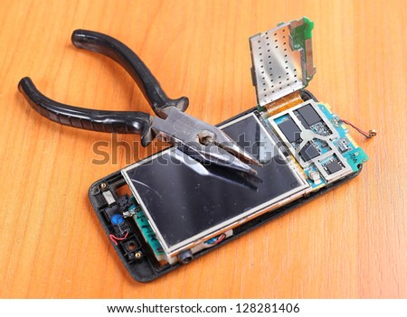 all for a reliable repair phones - stock photo